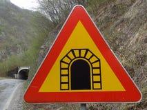 Tunnel roadsign Royalty-vrije Stock Foto