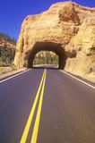 Tunnel Through Rock Stock Image