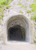 Tunnel in the rock in the Alps Royalty Free Stock Images