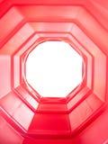 Tunnel rosso dell'ottagono Fotografia Stock Libera da Diritti