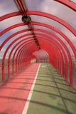 Tunnel rouge 1 Images libres de droits