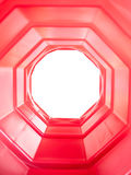 Tunnel rouge d'octogone Photographie stock libre de droits