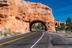 Tunnel rouge de canyon, Utah Photographie stock libre de droits
