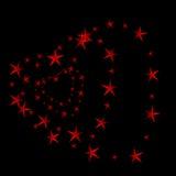 Tunnel rouge de coeur Photographie stock libre de droits