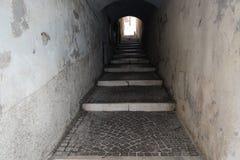 Tunnel in Salo city at lake garda stock photos