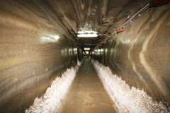 Tunnel in salt mine Royalty Free Stock Photo