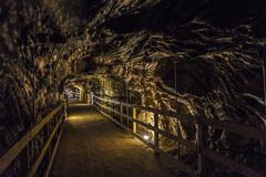 Tunnel in a salt mine, Spain Royalty Free Stock Images