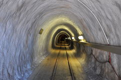 Tunnel in salt mine Royalty Free Stock Photos