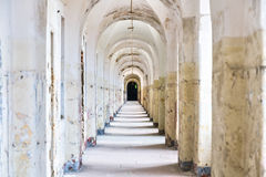 Tunnel with a series of arches . Royalty Free Stock Photography
