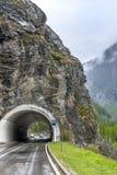 Driving on Simplon Pass Royalty Free Stock Image