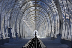 Tunnel for skiing Royalty Free Stock Photography