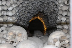 Tunnel of skulls Stock Photography