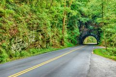Tunnel in the Smoky Mountains stock photography