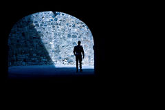 Tunnel and soldier Stock Photography