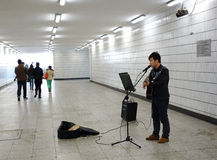 Tunnel soloist Royalty Free Stock Photography