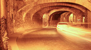 Tunnel sotterraneo in Guanaguato, Messico Immagini Stock