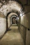 Tunnel sotto la diga Immagini Stock