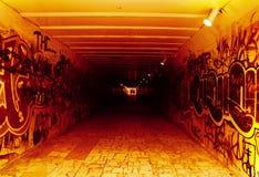 Tunnel souterrain à l'enfer Photographie stock libre de droits