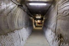 Tunnel souterrain dans une mine de sel Photo stock