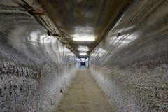 Tunnel souterrain dans une mine de sel Photos stock