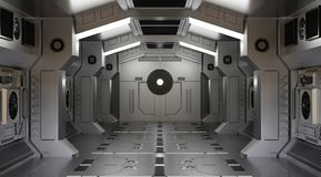 Tunnel spaceship interior sci-fi royalty free illustration