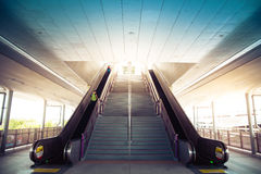 Tunnel Staircase going up to the light Royalty Free Stock Photo