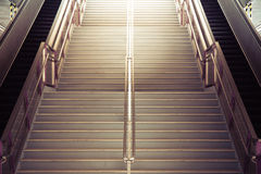 Tunnel Staircase going up to the light Royalty Free Stock Photography