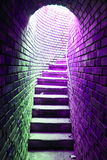Tunnel with stairs Stock Photos