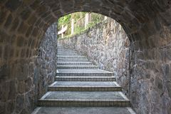 Tunnel stairs Stock Images