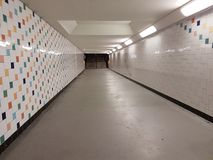 Tunnel at station goes. Subway in goes station royalty free stock photography