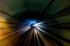 Tunnel Streaks. Streak lines in the MRT underground tunnel Stock Photos
