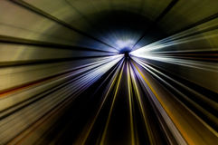 Tunnel Streaks. Streak lines in the MRT underground tunnel Stock Photography