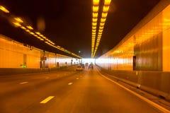 Tunnel sull'autostrada Fotografia Stock