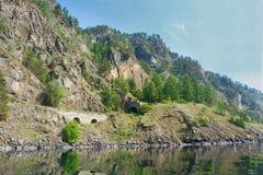 Tunnel sulla ferrovia di circum-baikal Fotografie Stock