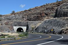 Tunnel sur Hwy 30 Photographie stock
