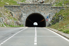 Tunnel on Sustenpass in Alps in Switzerland Stock Image