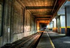 Tunnel Sydafrika för drevstation royaltyfria bilder