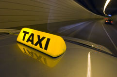 Tunnel Taxi Stock Photo