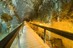 Tunnel at tel-Megiddo Royalty Free Stock Photos