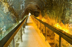 Tunnel at tel-Megiddo Royalty Free Stock Images