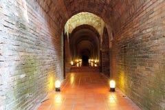 Tunnel in tempio 4 Immagine Stock Libera da Diritti