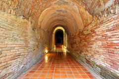 Tunnel in temple 3 Royalty Free Stock Photos