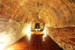 Tunnel in temple 2 Royalty Free Stock Image