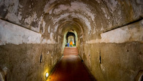Tunnel at temple. Umong temple , chiangmai Stock Photo