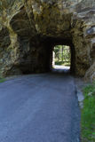 Tunnel thru rock Royalty Free Stock Images