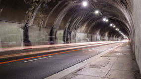 Tunnel. Time-lapse of a tunnel in Downtown LA stock video