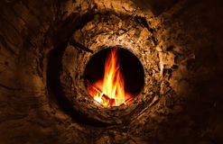 Tunnel to fire stock photography