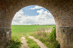 Tunnel to meadow Royalty Free Stock Photography