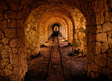 The tunnel to nowhere Royalty Free Stock Photography