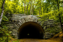 Tunnel to road to nowhere at lakeshore trailhead near lake fonta Stock Photo